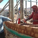 Brick laying process
