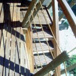 Waved deck and slatted stair