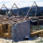 Straw bale wall construction