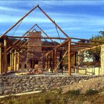 View of the Timber Frame Construction