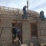 Begin of the thatching process